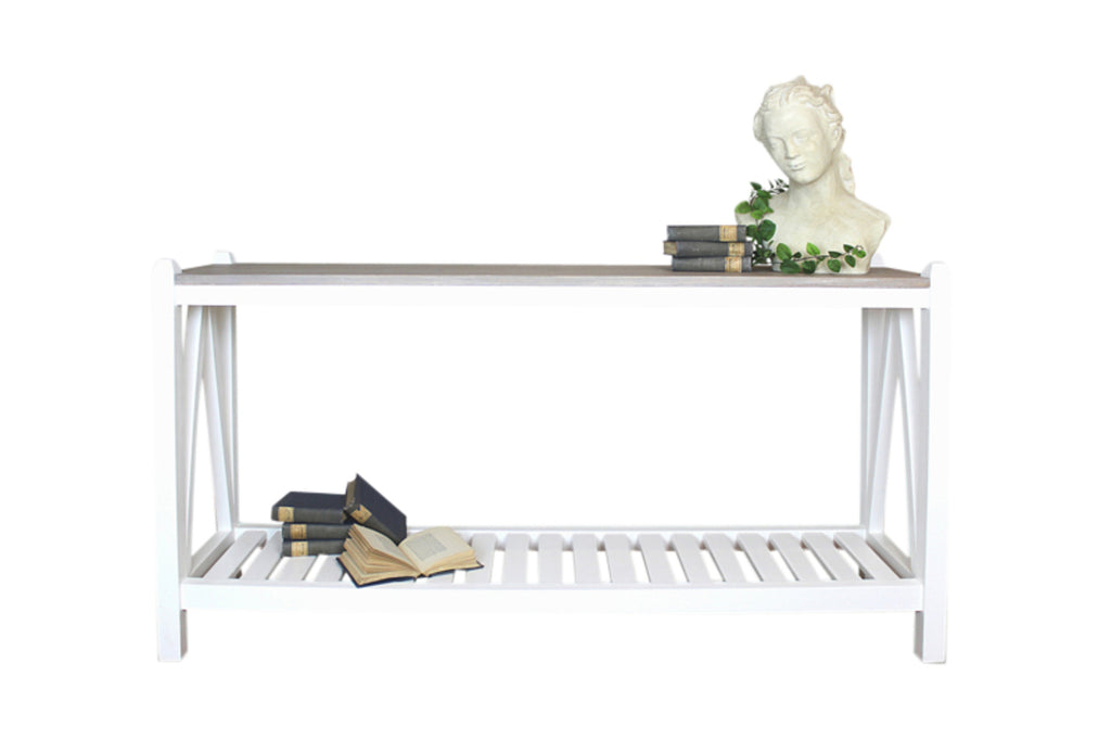 Harvest Console Table with Parquet