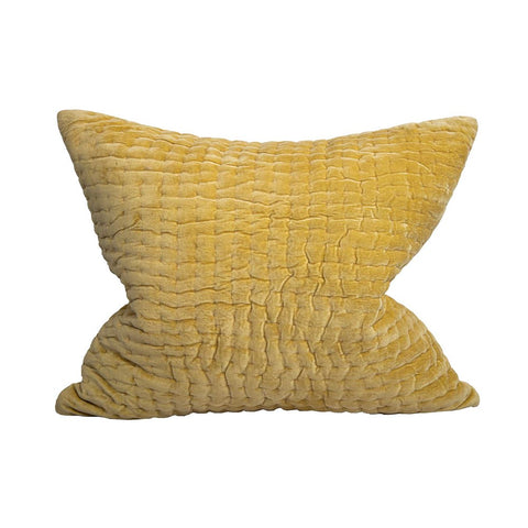 Fatima Long Velvet Cushion Yellow