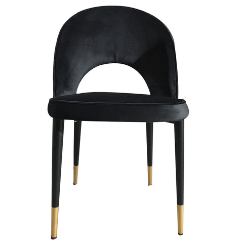 Guy Dining Chair Black Velvet