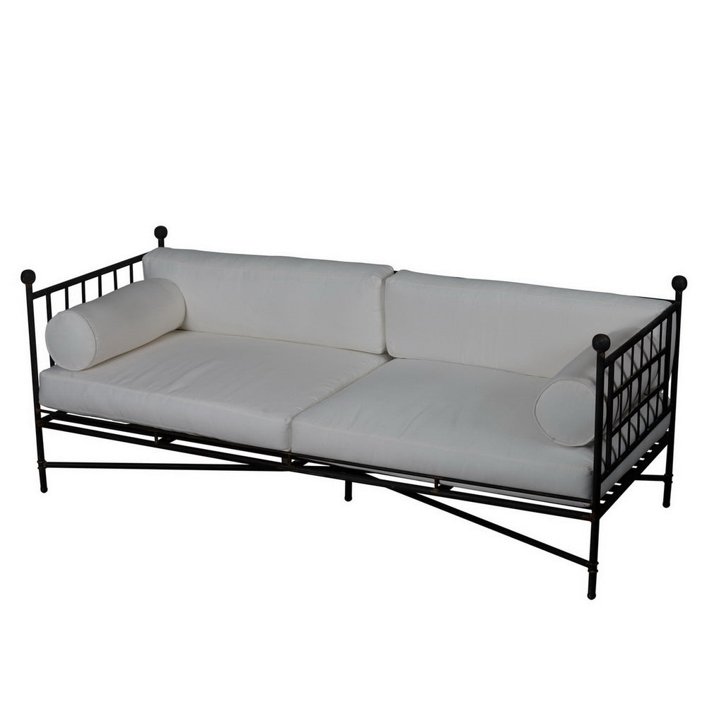 Prague Metal Day Bed with Cushion