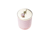 Cote Noire Candle and Scarf Set Charente Rose Pack/2