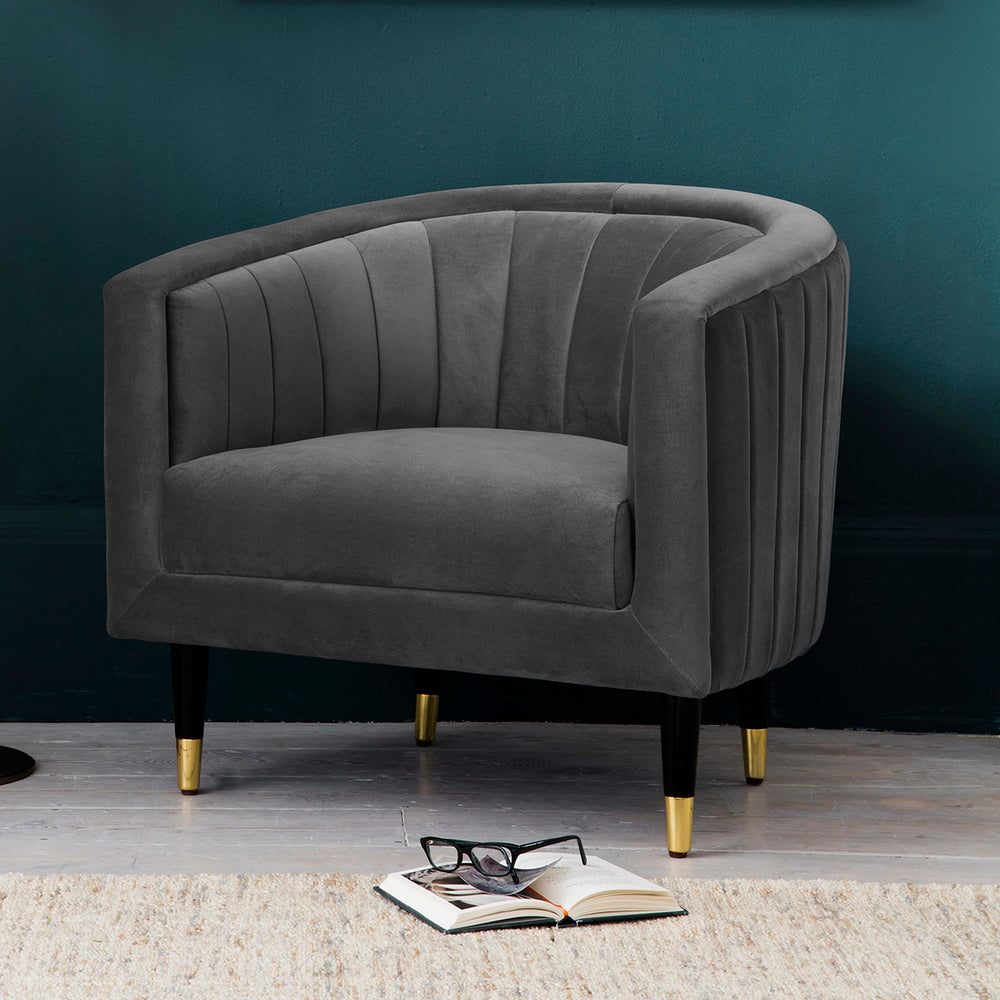 Hyde Armchair Mirage Velvet