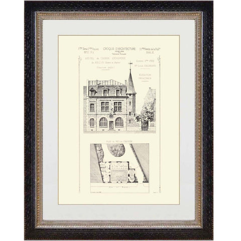 French Architectural Print 1