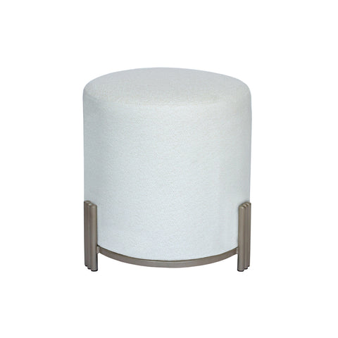Driftwood Drum Stool White