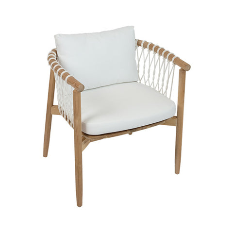 White Laced Rope Chair