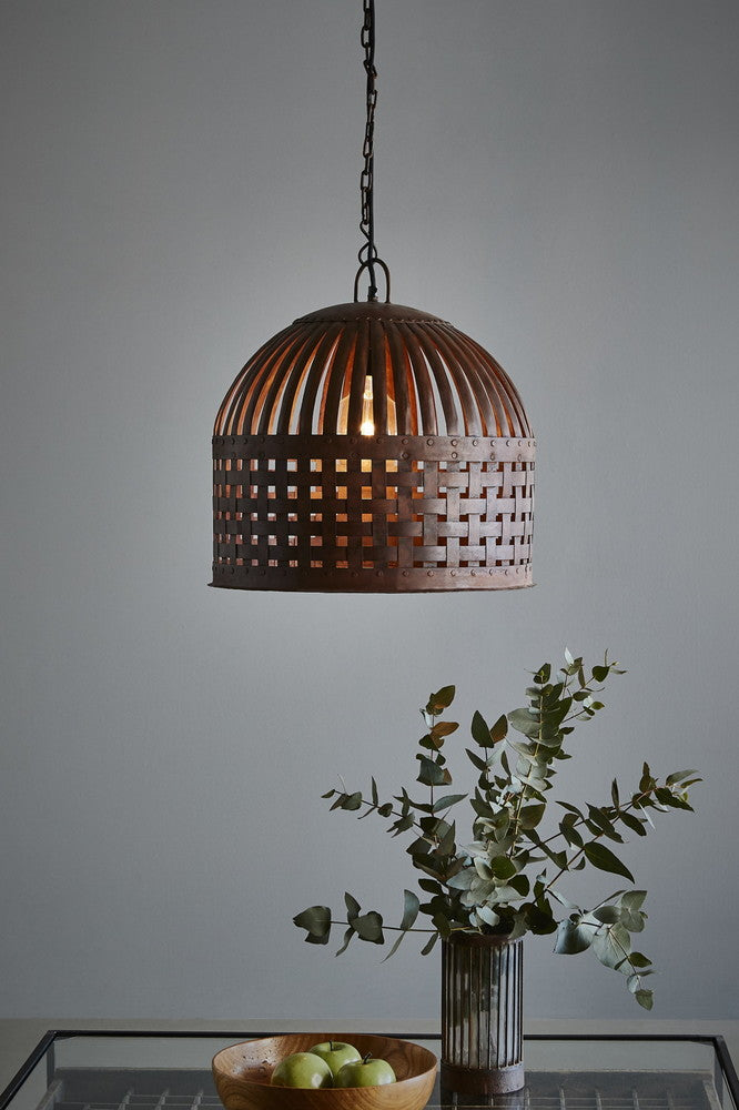 Cage Pendant Rust Medium