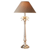 Nickel Pineapple Lamp with Natural Linen Shade Pair