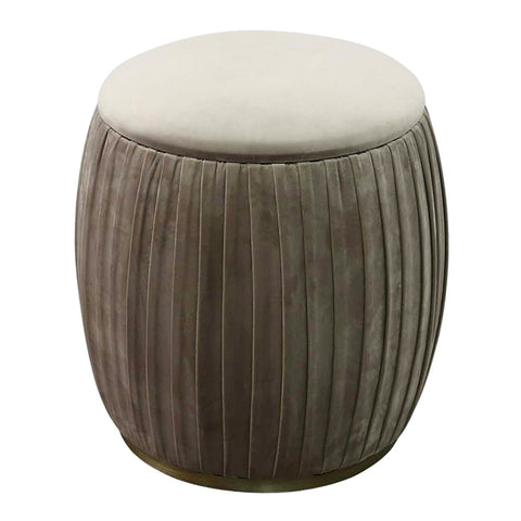 Morgan Low Storage Stool Taupe