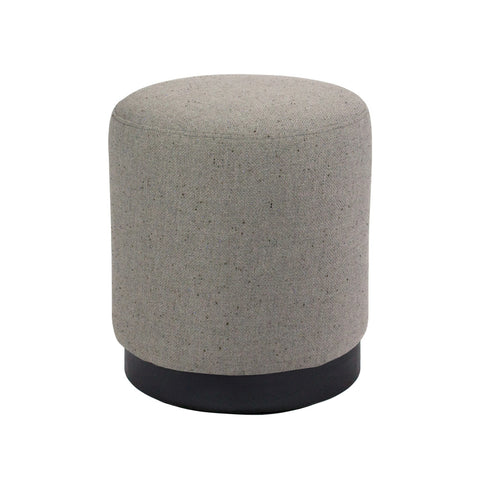 Tribeca Ottoman Grey with Dark Base Small