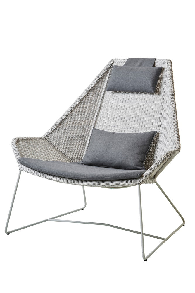 Breeze Highback Chair White Grey with Cushion Options