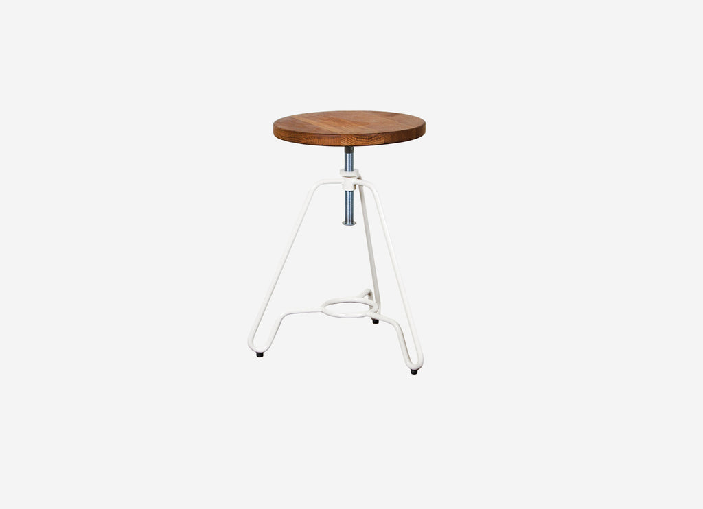 Industrial Low Stool White