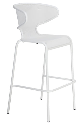 Malmo Outdoor Bar Chair White