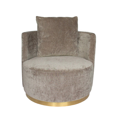 Roma Love Seat  Grey with Gold Base