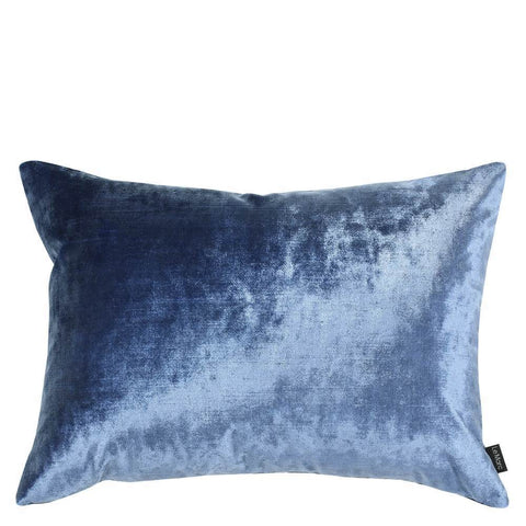 Zohra Velvet Cushion Grey and Blue