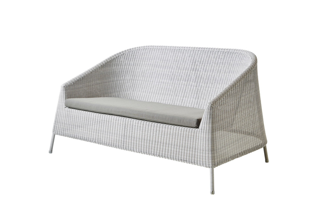 Kingston Outdoor 2 Seat Sofa White Grey with Cushion Options