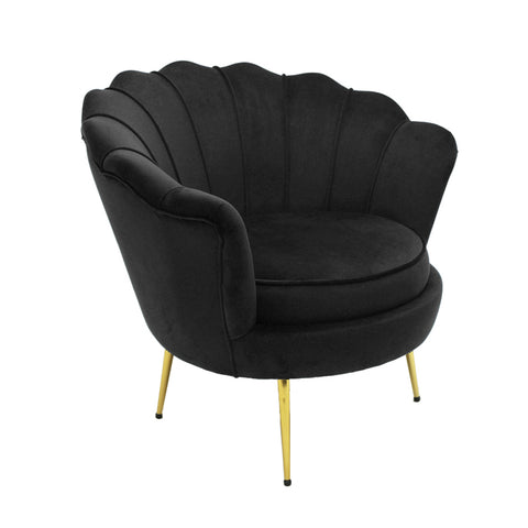 Mornington Chair Black Velvet