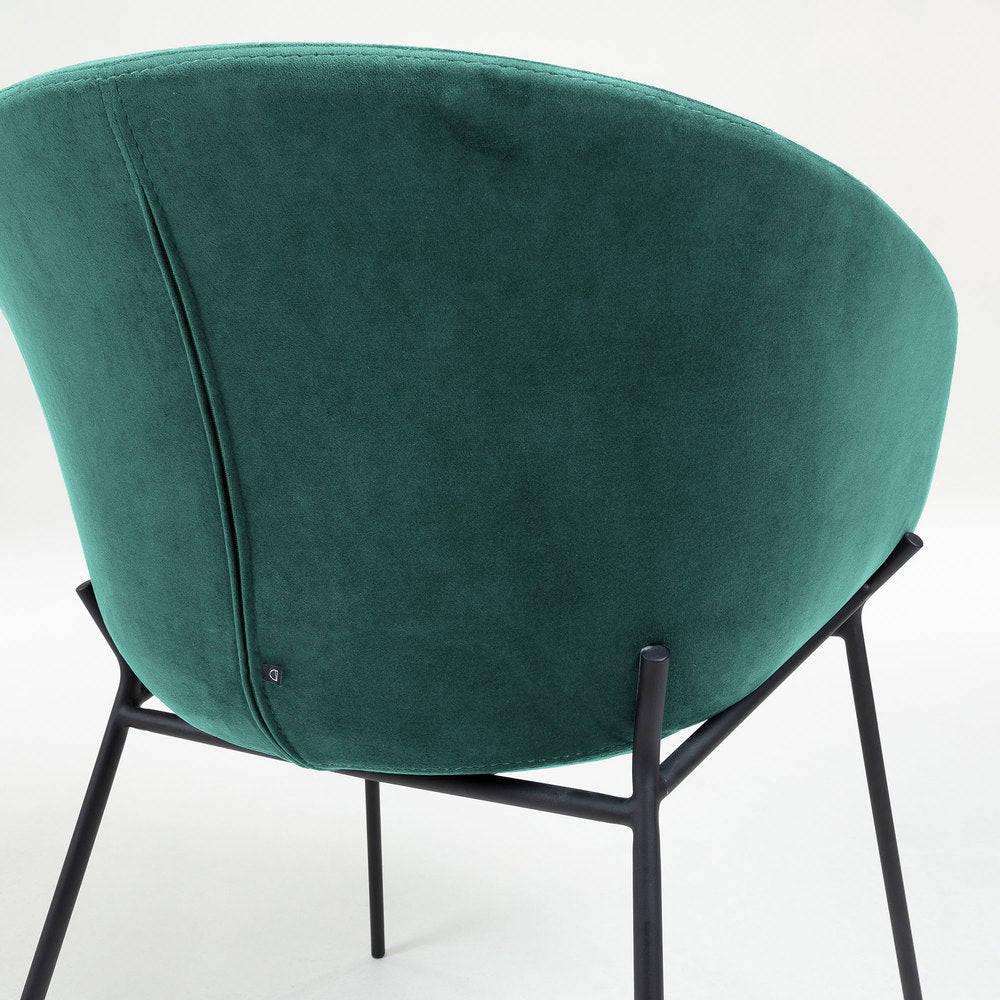 Gianni Armchair Green Velvet