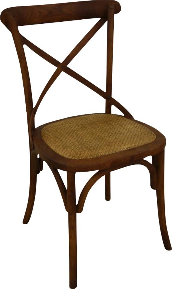 Cross Back Chair, Antique Natural