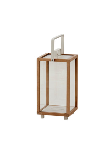 Lighthouse Lantern Indoor/Outdoor Small Teak/White