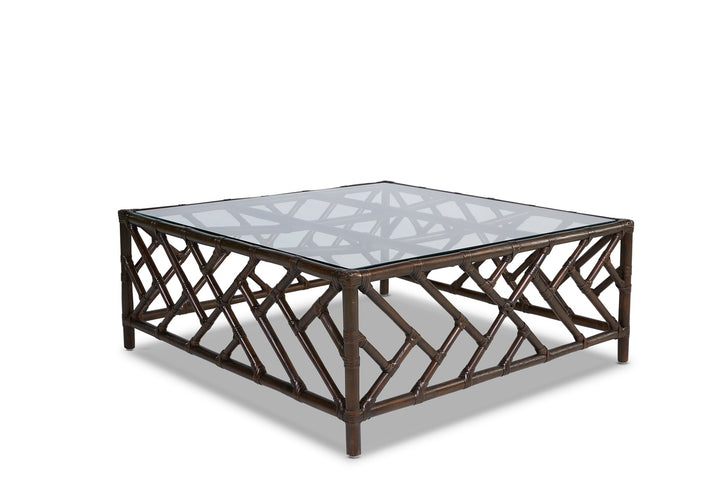Chinois Rattan Coffee Table Coffee Bean