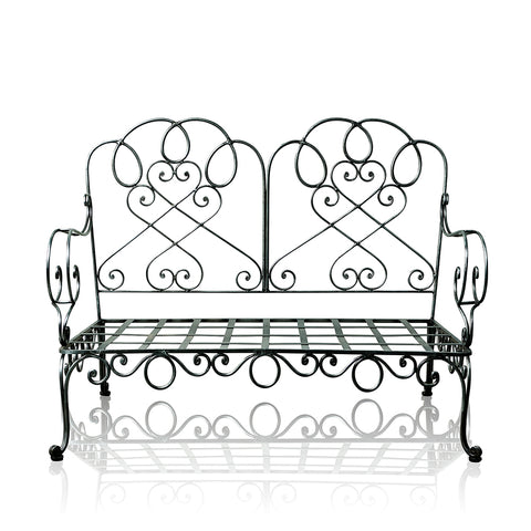 Chantilly Resort Wrought Iron 2 Seater Bench