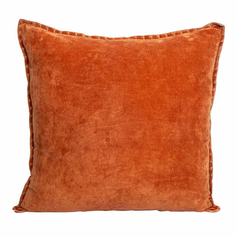 Sabrina Velvet Cushion Burnt Orange