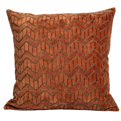 Zaynab Velvet Cushion Burnt Orange