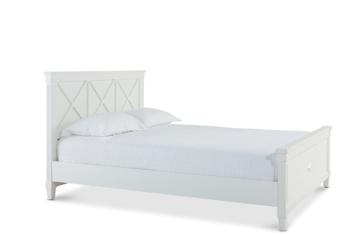 Long Beach Bed Queen White