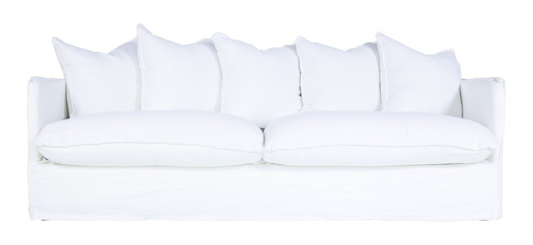 Singita 3 Seater Slip Cover Sofa White