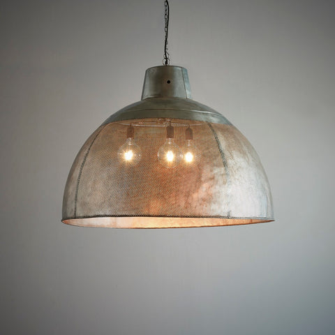 Factory Zinc Pendant Medium