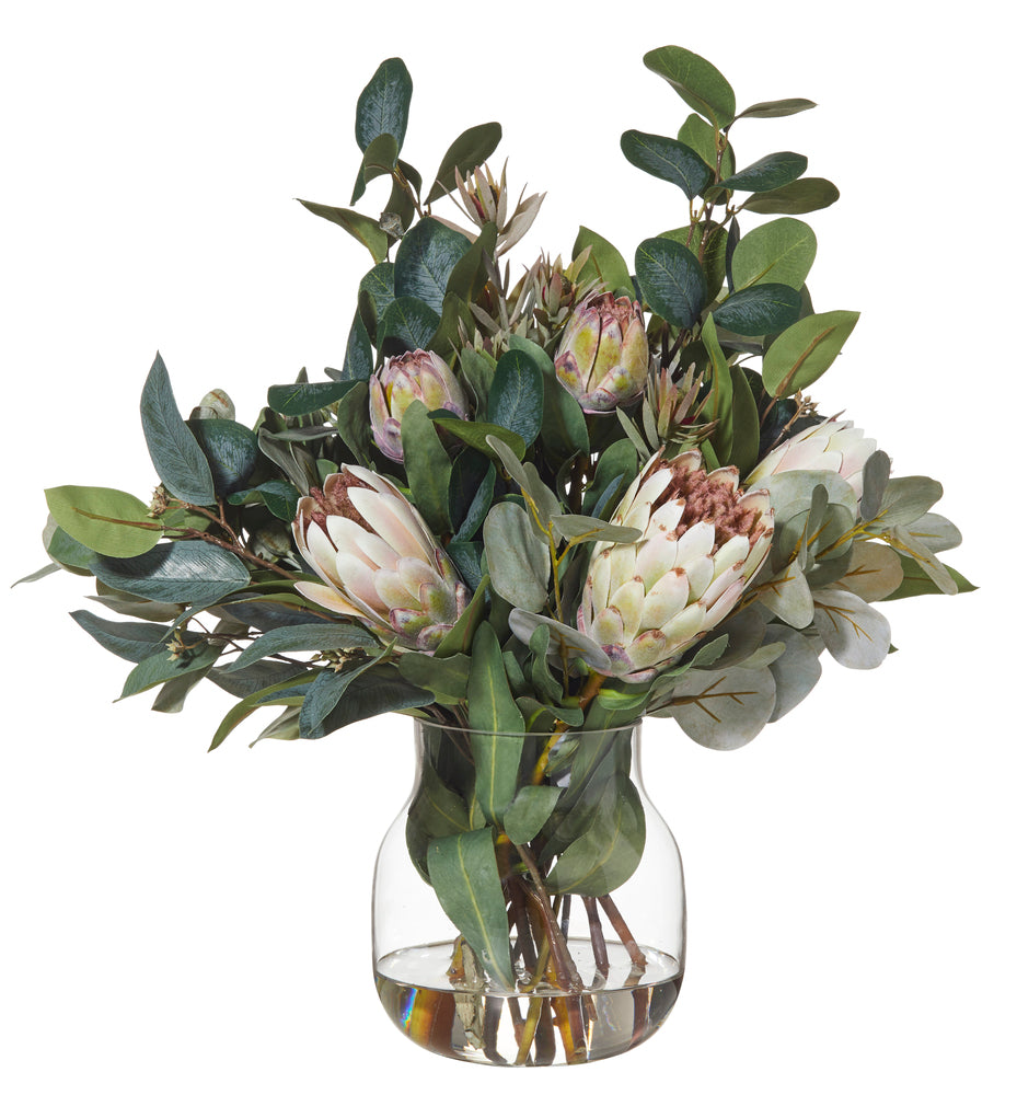 Eucalyptus Mix in Adina Vase Soft Pink