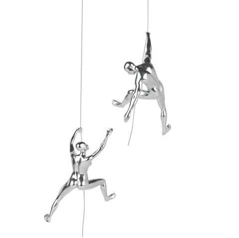 Climbing Sculpture Set/2 Matte Black