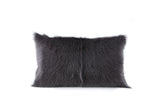 Goat Fur Cushion Charcoal