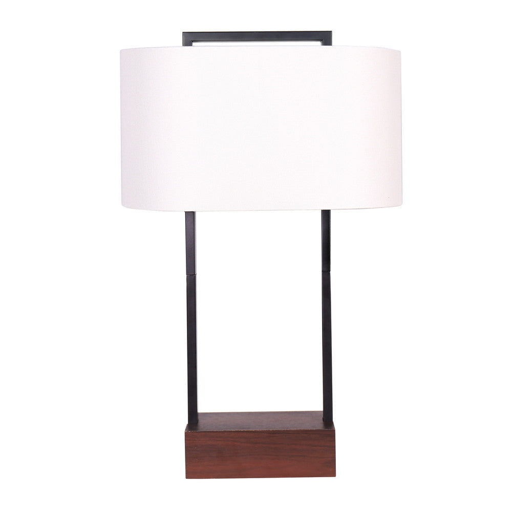 Oval Timber Table Lamp