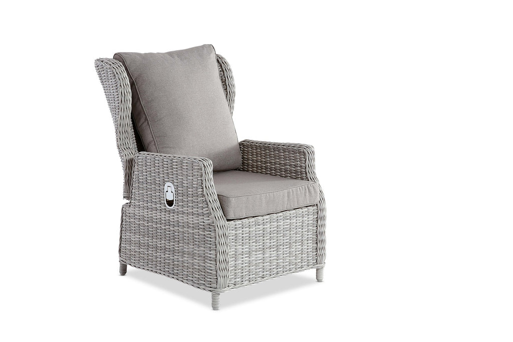 Aegean Outdoor Reclining Chair Weathered Grey