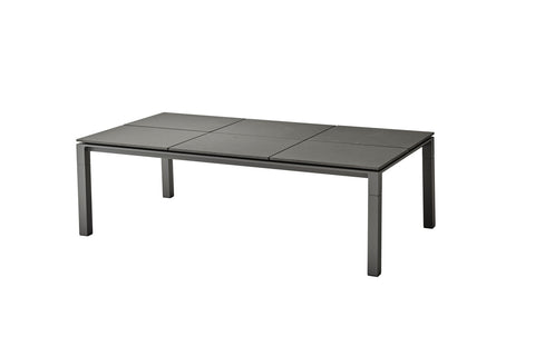 Pure Outdoor Dining Table 200cm x 100cm with Square Tile Top