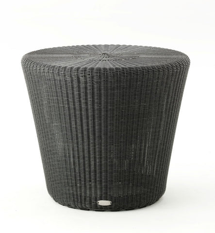 Kingston Outdoor Large Footstool/Ottoman Graphite with Cushion Options
