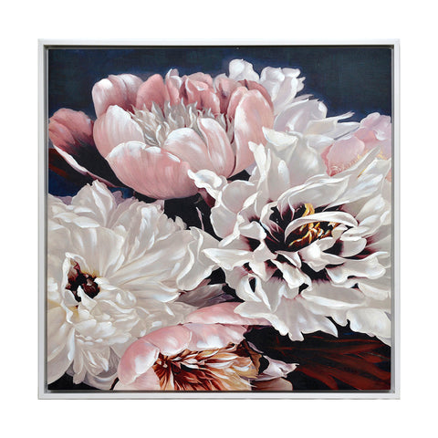 Floral Bounty Framed Canvas Print