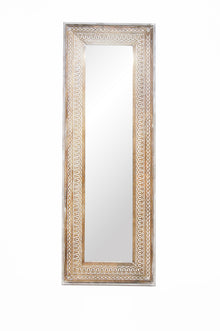 Abdera Tall Wooden Carved Mirror