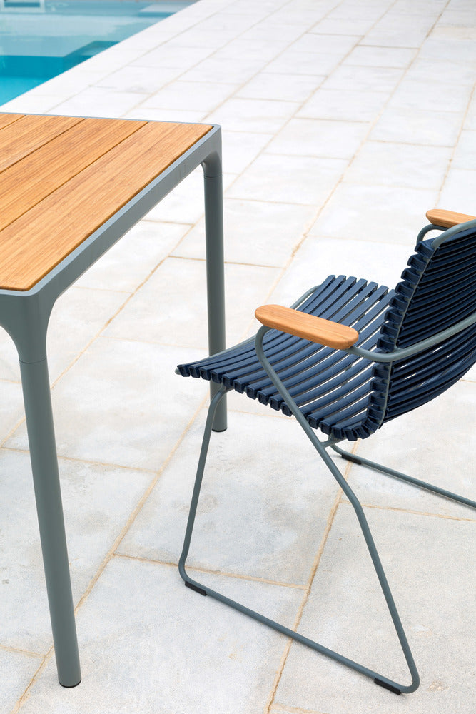 Click Armrest Outdoor Dining Chair Petrol