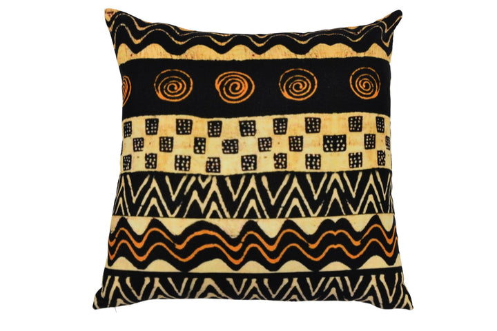 Kubu Gold and Black Cushion