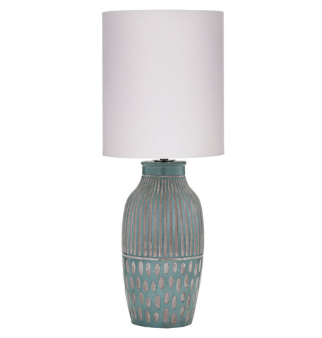Quinton Table Lamps Dark Green Pair