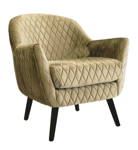 Club Chair Vintage Gold with Black Legs