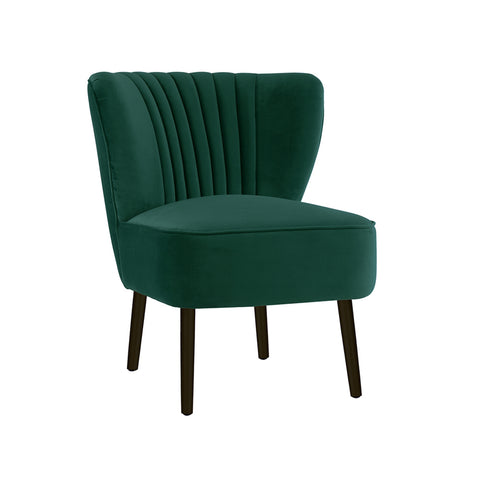 Slipper Chair Ivy Green with Black Legs