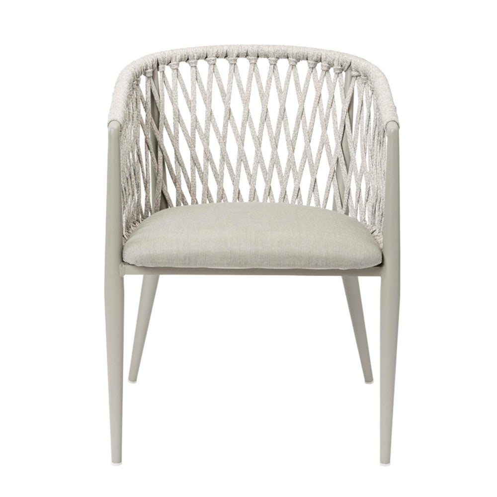 Davis Outdoor Dining Chair Taupe Grey