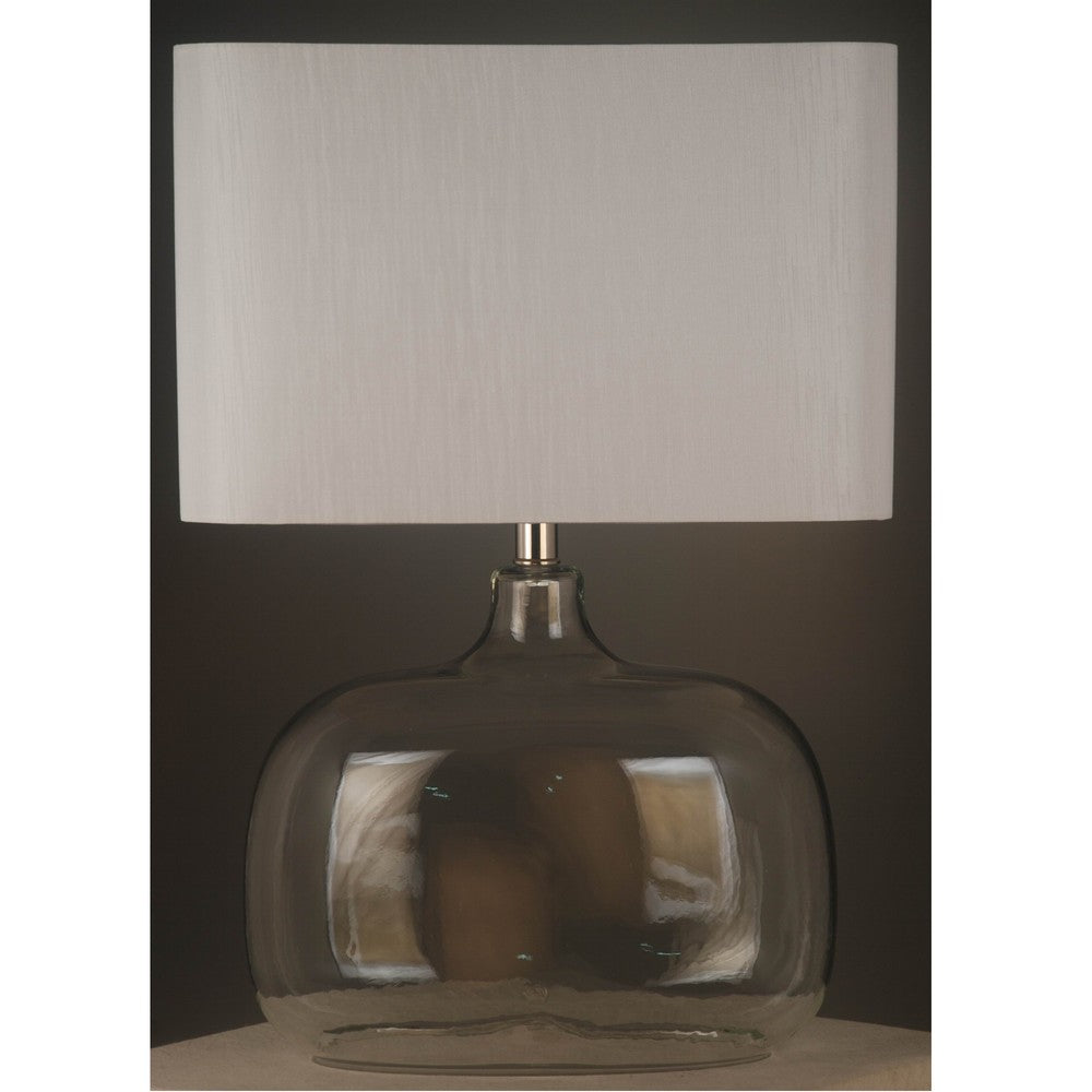 Torquay Glass Dome Lamp With White Shade