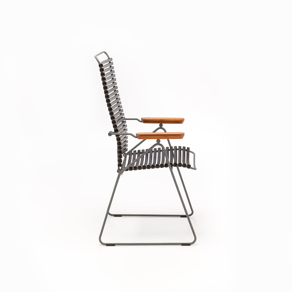 Click Position Outdoor Dining Chair Dark Navy
