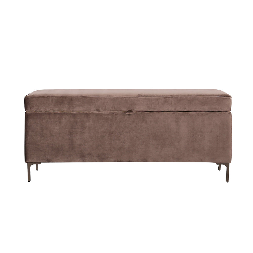 Brenton Storage Ottoman Chocolate