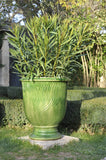 Original Anduze Pot Stries Vert Green
