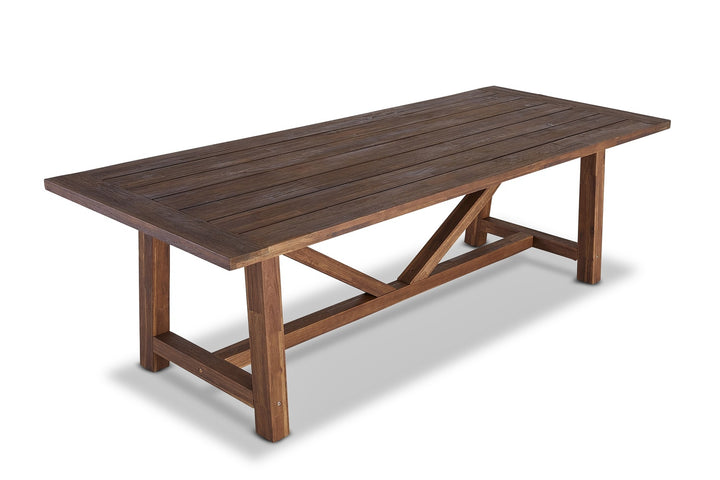 Barbados Indoor/Outdoor Dining Table Vintage Dark Teak Finish